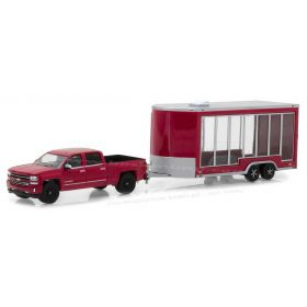 1/64 Chevy Silverado Pickup with Glass Display Trailer Series 12