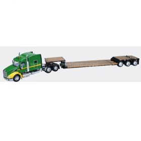 1/64 Peterbilt 579 Semi with lowboy trailer John Deere green
