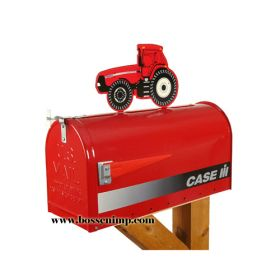 Mailbox Rural Style Case IH with Case IH MX-220 Tractor Topper
