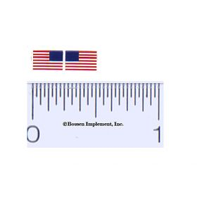 Decal 1/64 American Flag  .200in. x .250in.