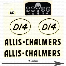 Decal Allis Chalmers D-14 Pedal Tractor Water Transfer