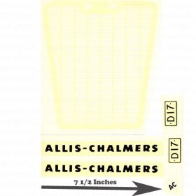 Decal Allis Chalmers D-17 Pedal Tractor Water Transfer