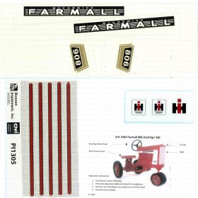 Decal Farmall 806 Pedal Tractor set