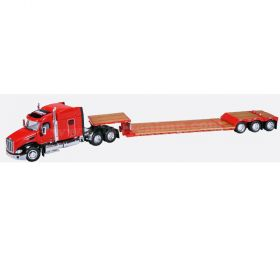 1/64 Peterbilt 579 Semi with lowboy trailer Case IH