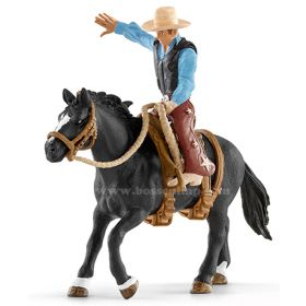 1/16 Horse Saddle Bron with cowboy