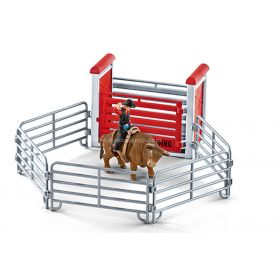 1/16 Cow Bull Riding Set with cowboy