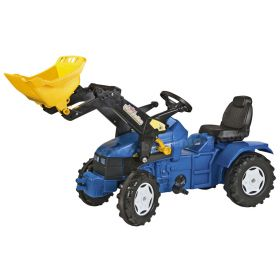 New Holland TD5050 Plastic Pedal Tractor with Front Loader
