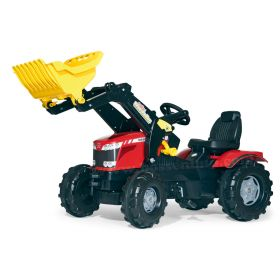 Massey Ferguson 8650 Plastic Pedal Tractor with Front Loader